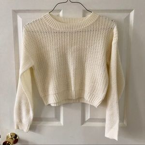 Forever 21 Sweaters - waffle-knit Forever21 cropped sweater